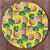 Sousplat Jacquard abacaxi amarelo - Imagem 1