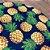 Sousplat Jacquard abacaxi azul marinho - Imagem 3