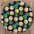 Sousplat Jacquard abacaxi azul marinho - Imagem 1