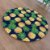 Sousplat Jacquard abacaxi azul marinho - Imagem 2