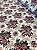 Tecido Gorgurinho Floral Vintage Bege Vinho - Imagem 2