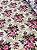 Tecido Gorgurinho Floral Vintage Bege Rosa - Imagem 2