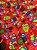 Tecido Gorgurinho corujinhas vermelho - Imagem 1