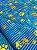 Tecido Gorgurinho patinhas coloridas azul - Imagem 1