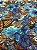 Tecido Gorgurinho Floral Azul - Imagem 1