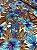 Tecido Gorgurinho Floral Azul - Imagem 2