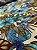 Tecido Gorgurinho Floral Azul - Imagem 3