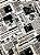 Tecido Jacquard jornal branco preto - Imagem 1