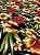Tecido Jacquard floral preto vermelho - Imagem 2