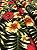 Tecido Jacquard floral preto vermelho - Imagem 3