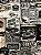 Tecido Jacquard vintage cinza - Imagem 1