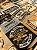 Tecido Jacquard vintage bege - Imagem 3