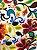 Tecido Jacquard floral amarelo - Imagem 1