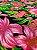 Tecido Gorgurinho Floral Rosa Azul Marinho - Imagem 2