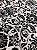 Tecido Jacquard medalhão branco e preto - Dupla-face - Imagem 4