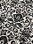 Tecido Jacquard medalhão branco e preto - Dupla-face - Imagem 2