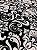 Tecido Jacquard medalhão branco e preto - Dupla-face - Imagem 5