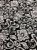 Tecido Jacquard medalhão branco e preto - Dupla-face - Imagem 3