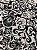 Tecido Jacquard medalhão branco e preto - Dupla-face - Imagem 1
