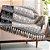 Manta para sofá Jacquard indiano branco preto dupla face - Imagem 1