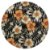 Sousplat Jacquard floral preto laranja - Imagem 1