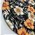 Sousplat Jacquard floral preto laranja - Imagem 2