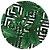 Sousplat Jacquard folhas geométrico verde - Imagem 1