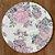 Sousplat Jacquard floral rosa - Imagem 1
