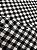 Tecido Gorgurinho Xadrez Preto Branco - Imagem 3