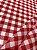 Tecido Gorgurinho Xadrez Vermelho Branco - Imagem 1