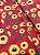 Tecido Tricoline girassol vermelho - Imagem 3