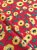Tecido Tricoline girassol vermelho - Imagem 1