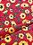 Tecido Tricoline girassol vermelho - Imagem 2