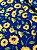 Tecido Tricoline girassol azul - Imagem 1