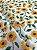 Tecido Tricoline girassol branco - Imagem 2