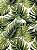 Tecido Jacquard Costela De Adão folhas verde pistache - Imagem 3