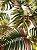 Tecido Jacquard Costela De Adão folhas verde terracota - Imagem 3