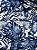 Tecido Jacquard Costela De Adão folhas azul - Imagem 1