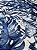 Tecido Jacquard Costela De Adão folhas azul - Imagem 4