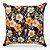 Capa de almofada Jacquard floral preto laranja - Imagem 1