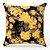 Capa de almofada Jacquard floral preto amarelo - Imagem 1