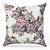 Capa de almofada Jacquard floral vintage rosa - Imagem 1
