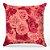 Capa de almofada Jacquard flores rosa - Imagem 1