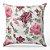 Capa de almofada Jacquard floral rosa - Imagem 1