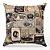 Capa de almofada Jacquard vintage bege - Imagem 1
