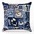 Capa de almofada Jacquard vintage azul - Imagem 1