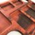 Petisqueira retangular com paliteiro 6 divisórias - Imagem 3
