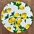 Sousplat Jacqurad limão siciliano branco amarelo - Imagem 1