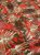 Tecido Jacquard Costela De Adão folhas vermelho - Imagem 3