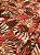 Tecido Jacquard Costela De Adão folhas vermelho - Imagem 2